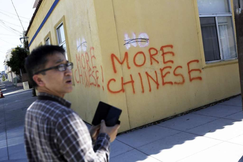 Hate crimes against Chinese (Photo from www.sfgate.com)