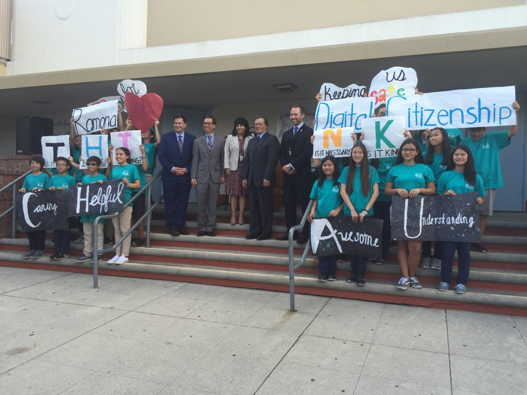 Digital Citizenship Week announced in Alhambra. (Photo from Ed Chau's office.)