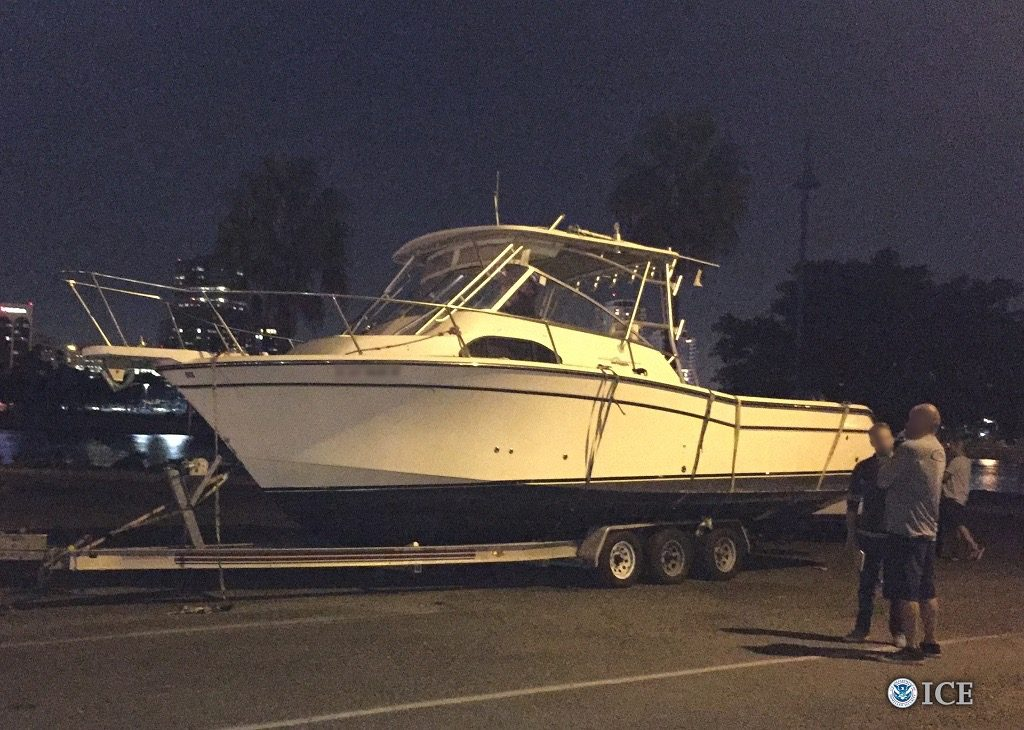 Over 1 ton of Marijuana was seized on boat in Long Beach. (Photo by ICE)